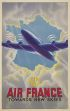 AIR FRANCE / TOWARDS NEW SKIES. 1947. 39x24 inches. Perceval, Paris.