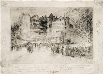 FÉLIX BUHOT La Place des Martyrs et la Taverne du Bagne.