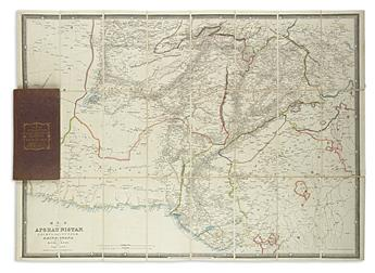 (AFGHANISTAN.) Wyld, James. Map of Afghaunistan, Cabul, the Punjab, Rajpootana, and the River Indus.