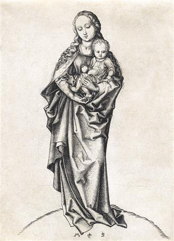 MARTIN SCHONGAUER The Madonna and Child with an Apple.