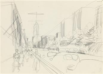 FAIRFIELD PORTER Group of 7 landscape and city studies.