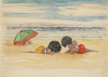 PALMER HAYDEN (1890 - 1973) At the Beach.
