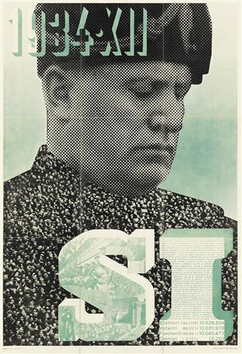 XANTI SCHAWINSKY (1904-1979). 1934 • XII / SI. Poster insert. 1934. 37x26 inches, 96x66 cm. Alfieri E Lacroix, Milan.
