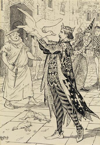 HENRY JUSTICE FORD. (FAIRY TALES / ANDREW LANG) The King catches the White Duck.