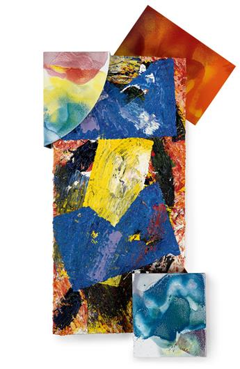 SAM GILLIAM (1933 -   ) Small Elements State.