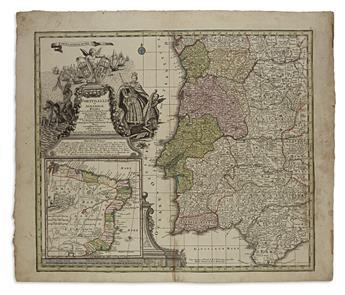 (PORTUGAL.) Seutter, Matthaeus. Portugalliae et Algarbiae Regna.