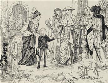 HENRY JUSTICE FORD. (FAIRY TALES / LANG) The Queen entrusts Little Richard to the Cardinal.