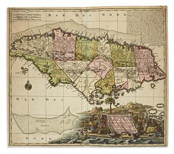 (JAMAICA.) Seutter, Matthaeus. Nova Designatio Insulae Jamaicae.
