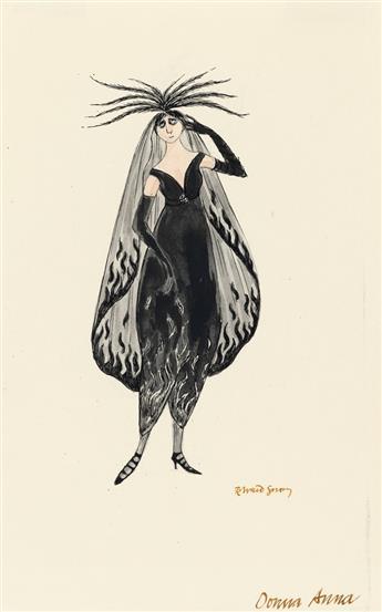 (COSTUME / THEATER.) EDWARD GOREY. Donna Anna.