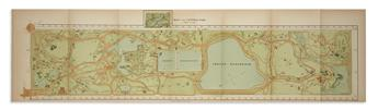 (NEW YORK CITY -- PARKS.) Board of Commissioners of the Central Park. Group of maps and plates
