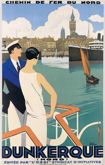 ROGER BRODERS (1883-1953). DUNKERQUE. Circa 1930. 39x24 inches, 99x63 cm. Lucien Serre & Cie., Paris.