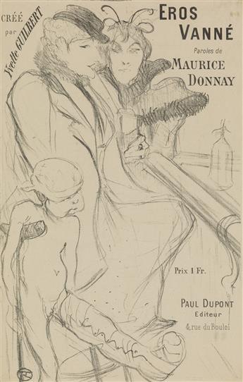 HENRI DE TOULOUSE-LAUTREC (1864-1901). EROS VANNÉ. Sheet music. 1894. 10x6 inches, 26x17 cm.