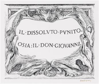 (THEATER.) EDWARD GOREY. Il Dissoluto Punito, Osia: Il Don Giovanni.