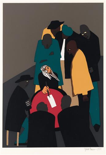 JACOB LAWRENCE (1917 - 2000) John Brown made many trips to Canada organizing for his assault on Harpers Ferry.