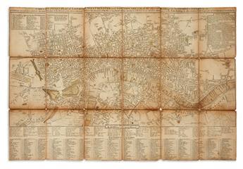(LONDON.) Cary, John. Carys New Pocket Plan of London, Westminster and Southwark.