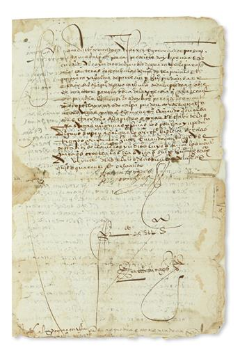 (MEXICAN MANUSCRIPTS.) Viceregal orders regarding disputes between Indian communities in Puebla over rights to wood.