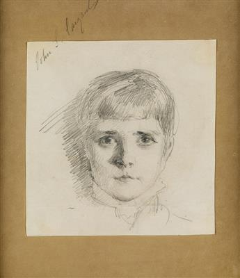 JOHN SINGER SARGENT Head of a Young Girl.