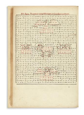 HRABANUS (or RABANUS) MAURUS. De laudibus sancte crucis opus.  1503.  Lacks 4 leaves.