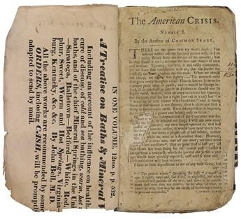 (AMERICAN REVOLUTION--1776.) [Paine, Thomas.] The American Crisis.