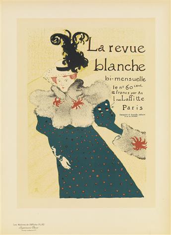HENRI DE TOULOUSE-LAUTREC (1864-1901). LA REVUE BLANCHE. Maîtres de lAffiche pl. 82. 1897. 15x11 inches, 40x28 cm. Chaix, Paris.
