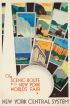 THE SCENIC ROUTE TO THE NEW YORK WORLDS FAIR. Circa 1939. 40x26 inches. Forbes, Boston.