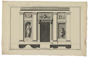 ARCHITECTURE.  BOUCHER, JULES-FRANÇOIS (FILS). Recueil de Decoration Intérieure.