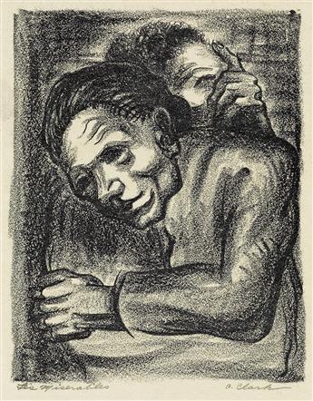 CLAUDE CLARK (1915 - 2001) Les Miserables.