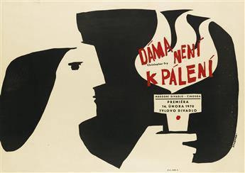 JAROSLAV ZELENKA (1921-1973). DAMA NENI K PALENI. 1970. 23x33 inches, 59x83 cm.