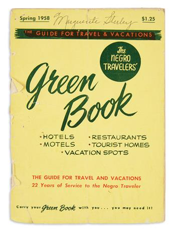 (CIVIL RIGHTS--SEGREGATION.) Green, Victor H.; editor. The Negro Travelers Green Book.