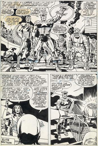 (MARVEL. COMIC. COMICBOOK. CAPTAIN AMERICA.) JACK KIRBY (and FRANK GIACOIA.) Captain America: The Rocks are Burning!