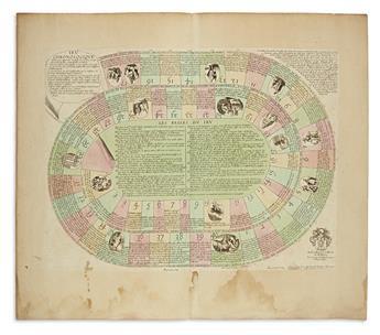 (GAMES.) Peyrounin, Abraham; engraver. Jeu Chronologique