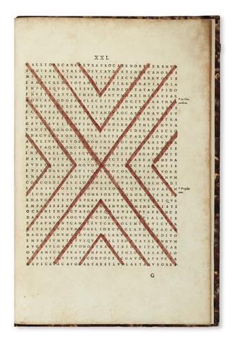 PORPHYRIUS, PUBLILIUS OPTATIANUS. Panegyricus dictus Constantino Augusto. Ex codice manuscripto Paulli Velseri.  1595