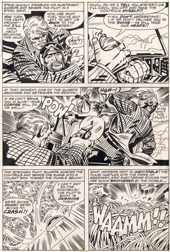 (MARVEL. COMIC. COMICBOOK. CAPTAIN AMERICA.) JACK KIRBY (and FRANK GIACOIA.) Captain America: The Tiger and the Swine.
