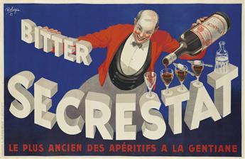 ROBYS (ROBERT WOLFF, 1916-?). BITTER SECRESTAT. 1935. 50x78 inches, 128x198 cm. L. Marboeuf, Paris.