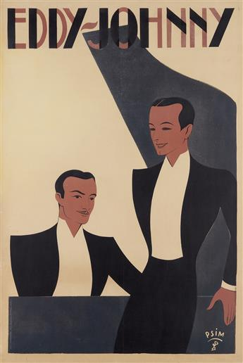 PSIM (DATE UNKNOWN). EDDY - JOHNNY. 1938. 46 x31 inches, 118x 80 cm. Harford, Paris.