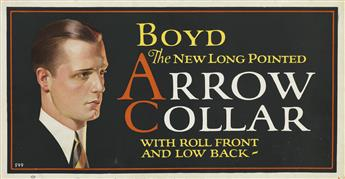 JOSEPH C. LEYENDECKER (1874-1951). [ARROW & ARATEX COLLARS.] Group of 3 Trolley Cards. Circa 1920s. Each 11x31 inches, 28x78 cm.