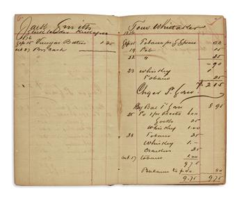 (TEXAS.) Store ledger from the brief life of a Texas ghost town.