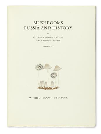 WASSON, VALENTINA PAVLOVNA and R. GORDON. Mushrooms, Russia, and History.  2 vols.  1957