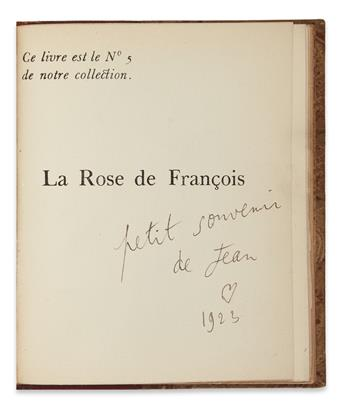 COCTEAU, JEAN. La Rose de François.