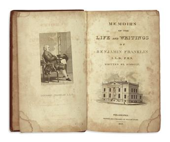FRANKLIN, BENJAMIN. Memoirs of the Life and Writings * The Works . . . in Philosophy, Politics, and Morals.