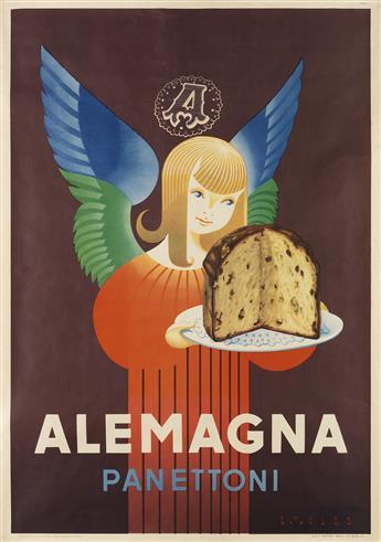 LUCIEN BERTAUX (1905-?). ALEMAGNA PANETTONI. 1955. 39x27 inches, 100x70 cm. A. Mariani, Milan.