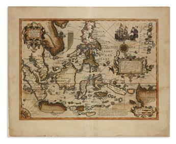 HONDIUS, JODOCUS. Insulae Indiae Orientalis Praecipuae in Quibus Moluccae Celeberrime Sunt.
