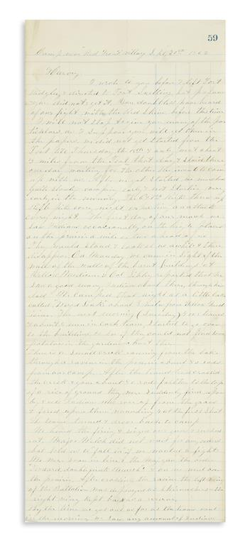 (MINNESOTA.) Brookins, George W. Letters of a soldier in the 3rd Minnesota Infantry on the Dakota War of 1862.