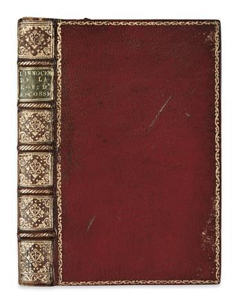 MARY, Queen of Scots.  [Belleforest, François de, mistakenly attributed to.] LInnocence de . . . Marie Royne dEscosse.  1572