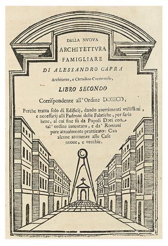 ARCHITECTURE.  CAPRA, ALESSANDRO. La nuova Architettura Famigliare.
