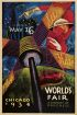 SANDOR CHICAGO WORLDS FAIR. 1934. 39x26 inches. Goes Litho Co.