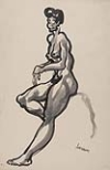 JOSEPH DELANEY (1904 - 1981) Seated Nude