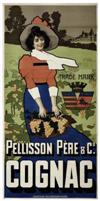 DESIGNER UNKNOWN PELLISON PÈRE & CO. COGNAC. 80x39 inches. Chiattone Arts Graphiques, Milan.