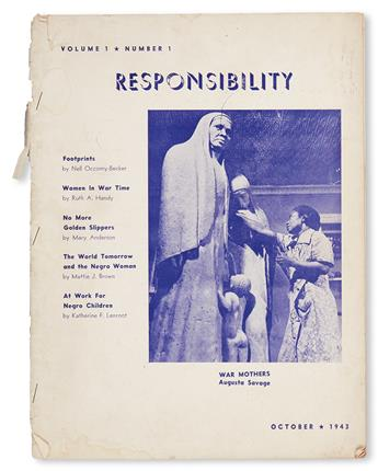 (WOMENS STUDIES.) HANDY, RUTH AVERY. Broken run of Responsibility, the official organ of the National Association of Negro Business an