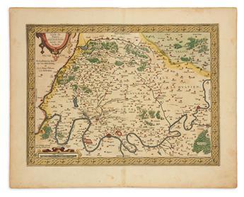 ORTELIUS, ABRAHAM. [Paris.] LIsle de France. Parisiensis Agri Descrip.